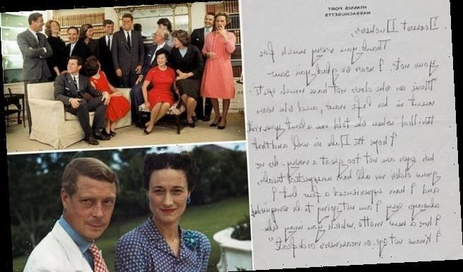 Letter written by mother of JFK to Wallis Simpson emerges for sale