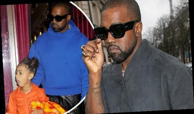 Kanye West returns to his home in Los Angeles from Wyoming