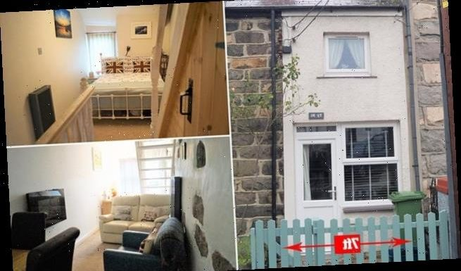 One of the UK's thinnest homes in North Wales goes on sale for £72,000