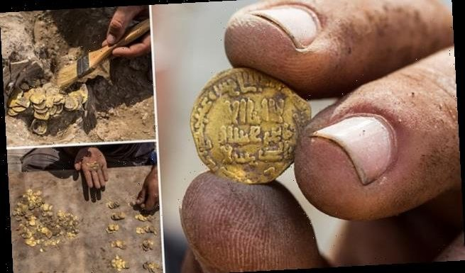 Trove of 1,100-year-old 24-carat gold coins dug up by teens in Israel