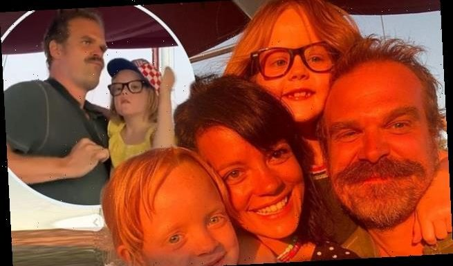 Lily Allen and David Harbour pose with her kids as Croatia trip ends