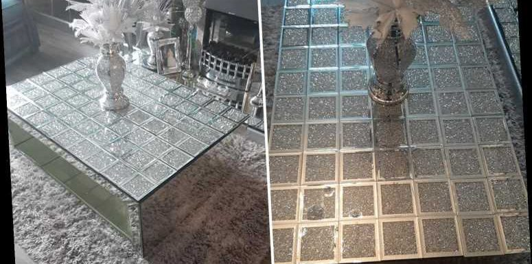 Savvy DIY fan who couldn't afford £360 'crushed diamond' coffee table made her own using coasters from The Range