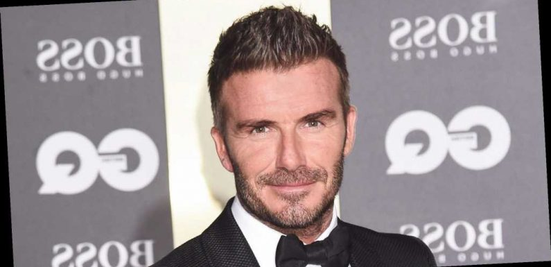 LOL! David Beckham Recreates a Sexy Fragrance Campaign From 15 Years Ago
