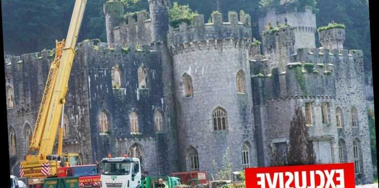I'm A Celeb castle undergoes emergency work to stop it crumbling during filming