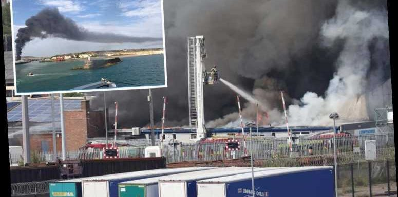 Newhaven fire – Sussex port 'explosion' sparks huge blaze as black smoke seen for miles around
