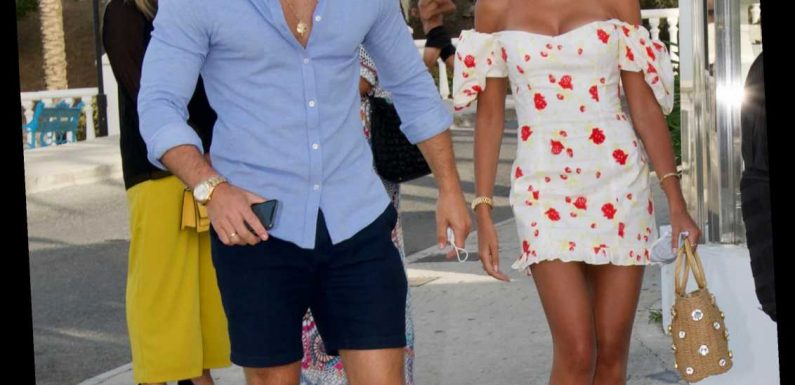 Topless Mark Wright drives speedboat in hilarious TikTok clip with wife Michelle Keegan