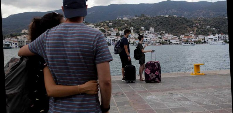 Worried Brits scramble to delay Greece holidays over UK quarantine fears but some insist 'it's safer than England'