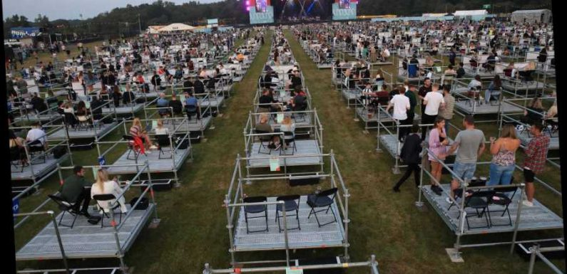 World's 'first socially-distanced concert' could be future of festivals – so you can leave the wellies at home