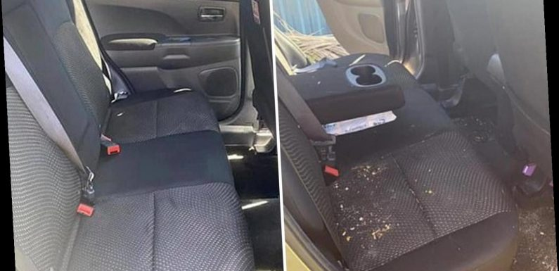 Exhausted mum-of-two shares photo of filthy food-stained car & reveals how she got it looking as good as new