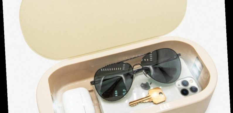 These stylish storage boxes double as UV sanitizers