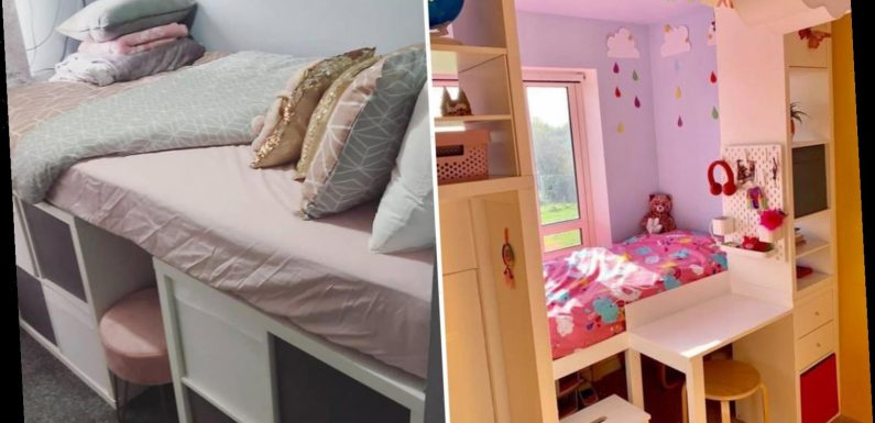 Mums are sharing their stunning Ikea hacks as they use the storage to make beds, desks and kids' room dividers – The Sun