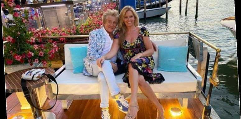 Rod Stewart and wife Penny Lancaster all smiles as they enjoy a romantic break in 'one of favourite cities' Venice