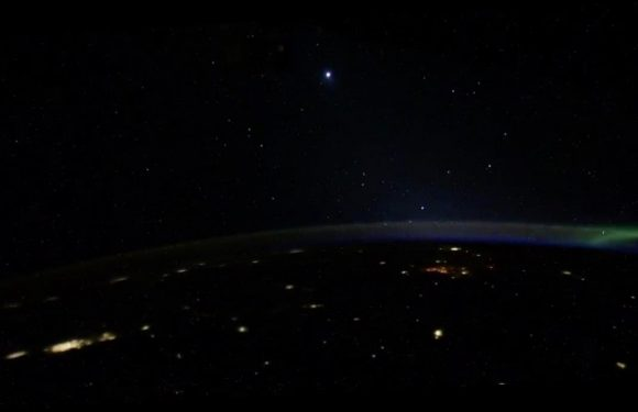 Cosmonaut shares new video of strange lights moving in 'formation' past ISS