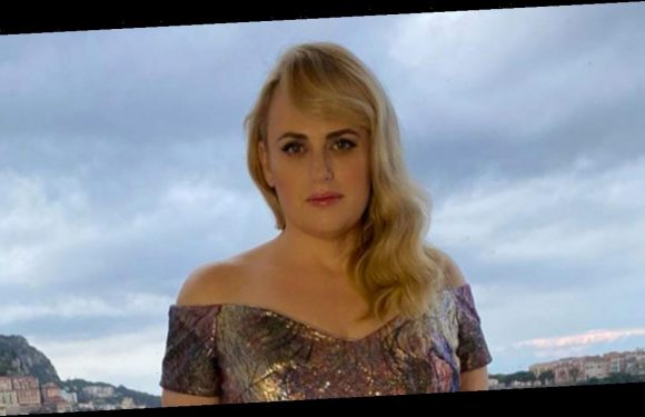 Rebel Wilson showcases dramatic weight loss in shimmering floor length gown