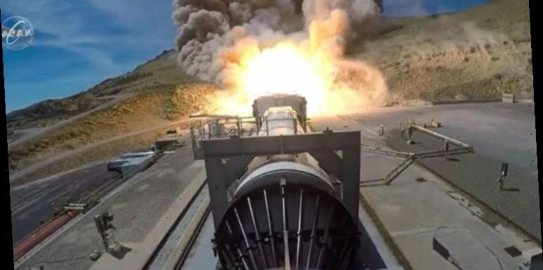 NASA Moon mission: Rocket test so powerful it practically scorched a hillside – VIDEO