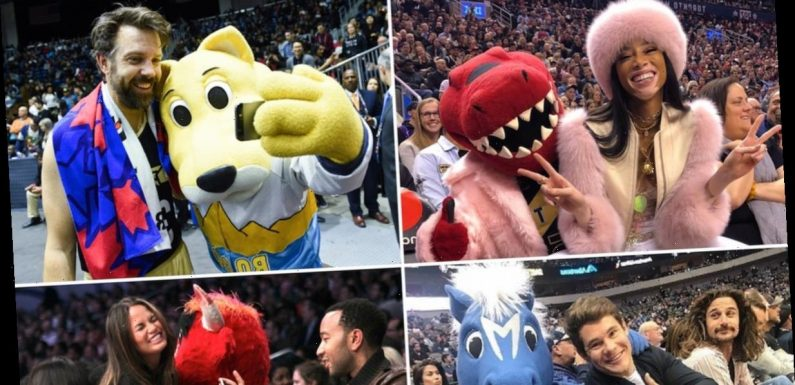 Celebrities With NBA Mascots — Shoot Your Shot!