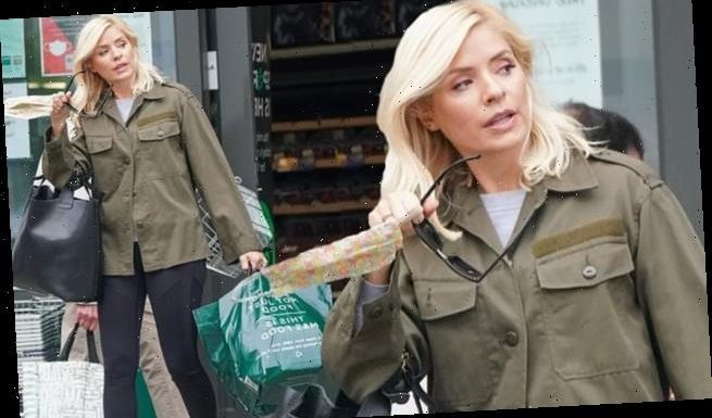 Holly Willoughby cuts a low-key figure as she picks up some essentials