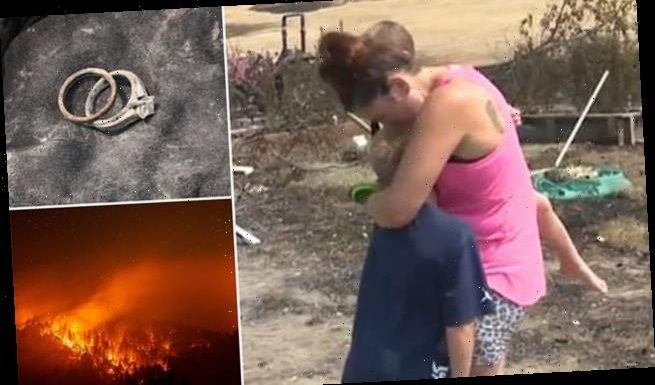 Wedding rings discovered among remains of wildfire-destroyed home