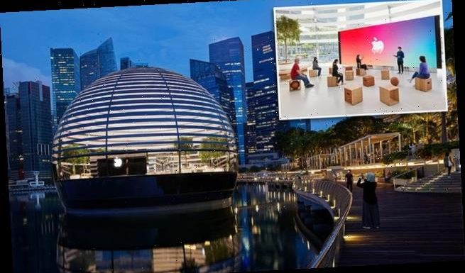 Apple reveals images from inside FLOATING store opening in Singapore