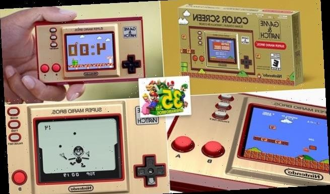Nintendo is bringing back handheld Game & Watch from the 1980s