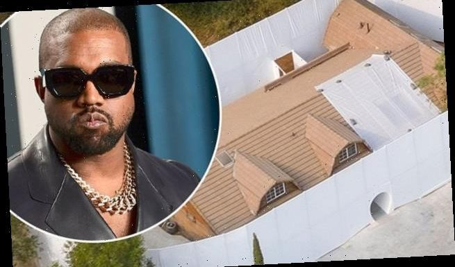 Kanye West Builds Huge Wall Around His House In Calabasas Hills Wsbuzz Com