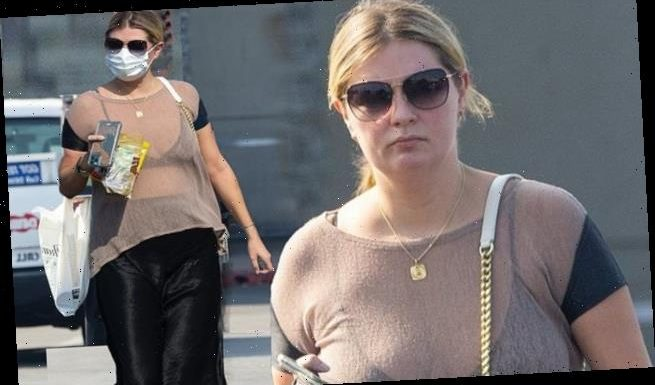 Mischa Barton puts on a busty display in a sheer top for a grocery run