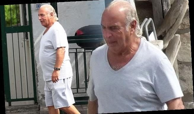 Sir Philip Green,68, cuts a low-key figure as he steps out in Capri