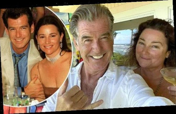 Pierce Brosnan gifts wife of 19 years a painting for her 57th birthday