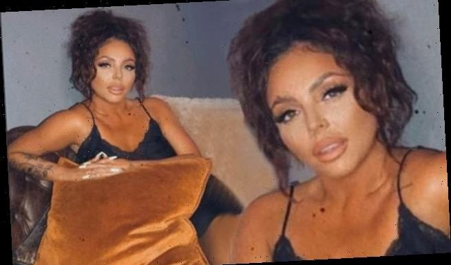 Jesy Nelson dons sexy negligee before trying to distract Sean Sagar