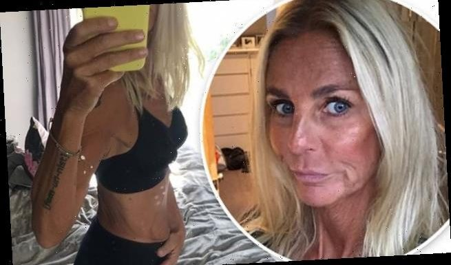 Ulrika Jonsson, 53, displays her enviable frame in  underwear