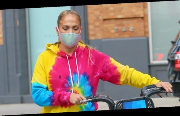 As If She Wasn't Going to Already Stand Out, J Lo Just Wore This Loud Tie-Dye Look