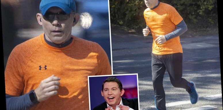 Lee Evans spotted for the first time in two years after quitting showbiz to spend more time with his family