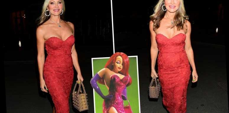 Caprice Bourret, 48, channels Jessica Rabbit in stunning red dress