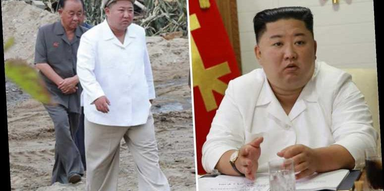 Kim Jong-un pics show dictator alive and well in cap and baggy trousers after rumours he was in coma
