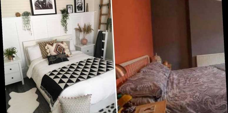 Mum gives her dull bedroom a super chic makeover with Lidl & Poundland bargains – and she's even done her own panelling
