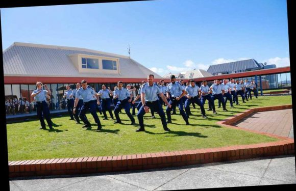 Murdered cop Matt Ratana's former colleagues in New Zealand pay respects by performing touching Haka