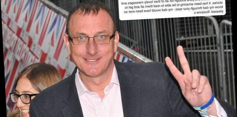 BGT star Ian Royce's daughter Roxanne says dad would be 'pleased' with the 'lovely messages' shared after his death