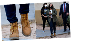 Kamala Harris Wears Her Timbs Right Off the Plane, and Now We Know She's Ready to Get Sh*t Done
