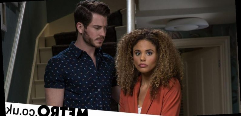 EastEnders fans horrified by Gray as he keeps an eye on Chantelle's every move