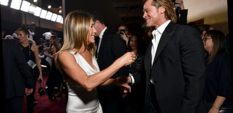 First Look at Jennifer Aniston and Brad Pitt's 'Fast Times' Reunion