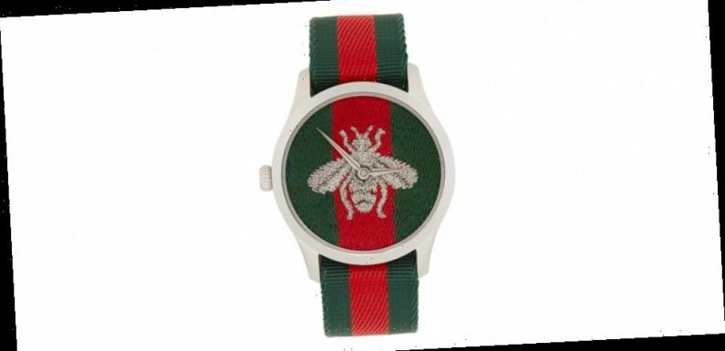 Gucci Drops a G-Timeless Web Bee Watch