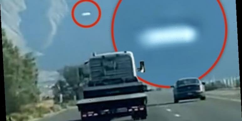 UFO sighting: Claim '70ft' alien craft caught on camera – 'Very close to Area 51'