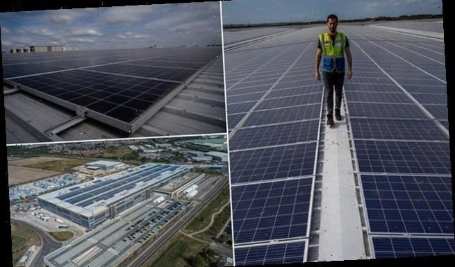 Europe's largest Amazon warehouse unveils 'solar system' on its roof
