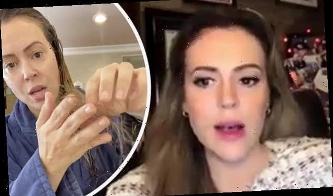 Alyssa Milano describes lingering hair loss and brain fog after COVID