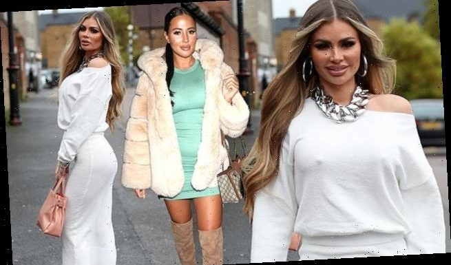 TOWIE'sChloe Sims turns heads in a white off-the-shoulder dress
