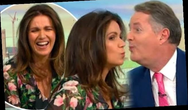 Piers Morgan and Susanna Reid 'KISS' on Good Morning Britain