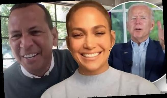 Jennifer Lopez and Alex Rodriguez endorse Joe Biden for president