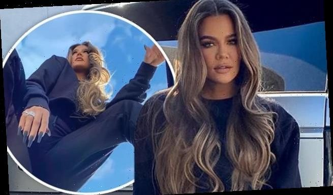 Khloe Kardashian gets creative with posing to promote Good American