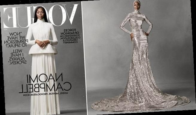 Naomi Campbell graces cover of Vogue in Dior gown