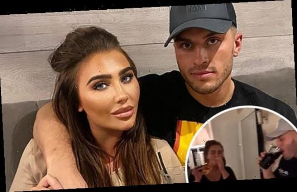 Lauren Goodger shares text exchange with new boyfriend Charles Drury